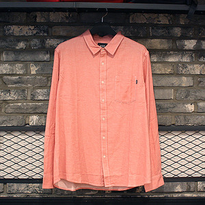 [허프] COURSE L/S CHAMBRAY SHIRT (PINK) - HFA17BU00001PK [허프 HUF 셔츠/긴팔티]